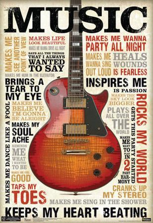 Music Inspires Me Poster