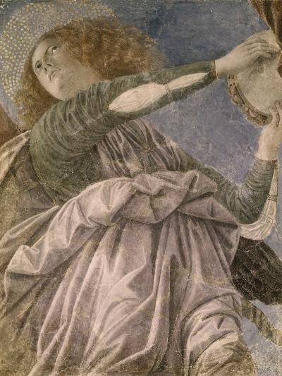 Music Making Angel with Tambourine-Melozzo da Forl?-Giclee Print