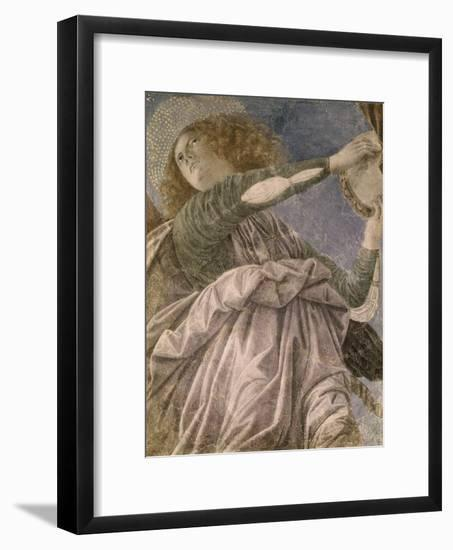 Music Making Angel with Tambourine-Melozzo da Forlí-Framed Giclee Print