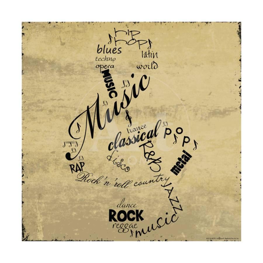 Music Note Art Print by Anna Quach | Art.com