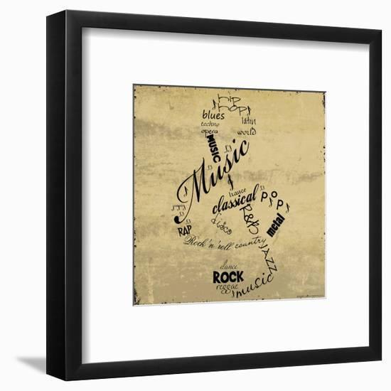 Music Note-Anna Quach-Framed Art Print
