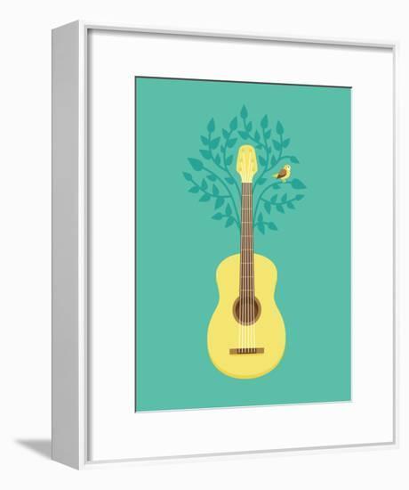 Music Poster In Flat Retro Style-venimo-Framed Art Print