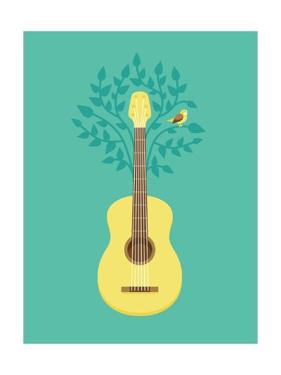 Music Poster In Flat Retro Style-venimo-Art Print