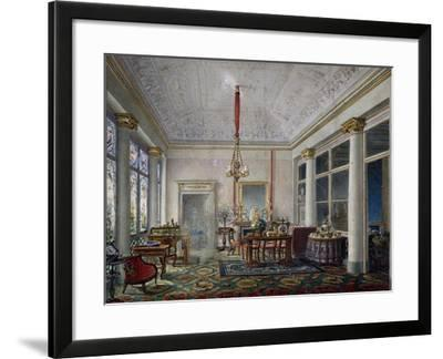 Music Room in Villa Reale in Monza, 1820-1830, Gouache on Paper by Luigi Bisi (1814-1886)--Framed Giclee Print