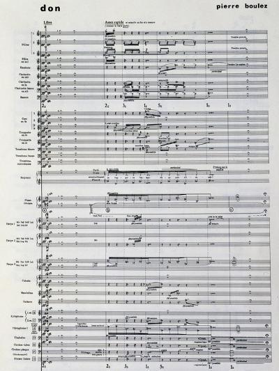 Music Score from Pli Selon Pli-Pierre Boulez-Giclee Print
