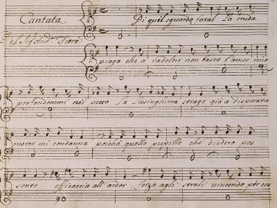 Music Score from Song on Princess Amelia-Giovanni Bononcini-Giclee Print
