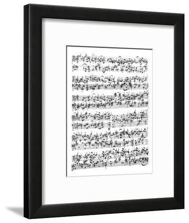 Music Score of Johann Sebastian Bach
