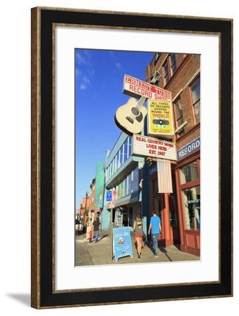 Music Store on Broadway Street, Nashville, Tennessee, United States of America, North America-Richard Cummins-Framed Photographic Print