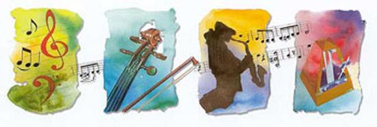 Musical Accents II-A^ Almeida-Art Print