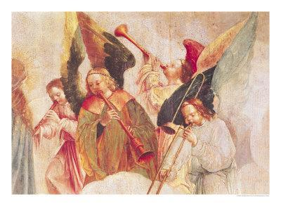 Musical Angels, Detail from the Assumption of the Virgin-Taborda Vlame Frey Carlos-Giclee Print