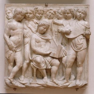Musical Angels, Relief from the Cantoria, C.1432-38-Luca Della Robbia-Giclee Print