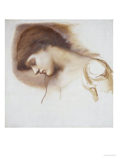 Musical Attendant, from Rose Bower Series-Edward Burne-Jones-Giclee Print
