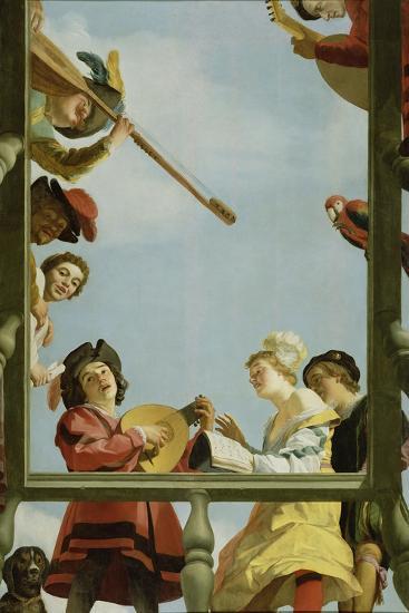 Musical Group on a Balcony, 1622-Gerrit van Honthorst-Giclee Print