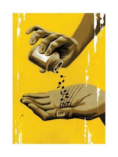 Musical Healing-Thomas Fuchs-Giclee Print