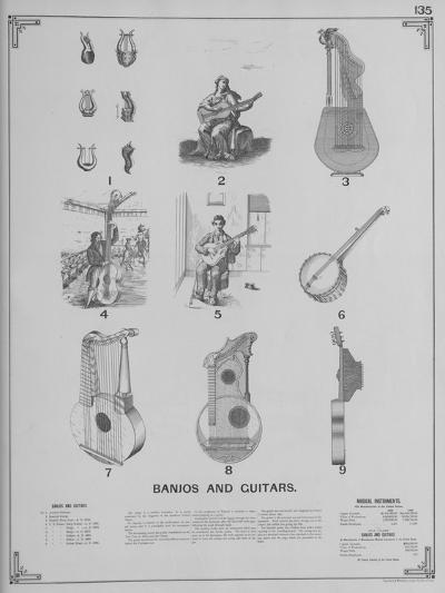 Musical Instruments - Banjos and Guitars--Giclee Print
