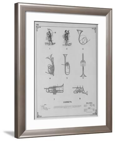 Musical Instruments - Cornets--Framed Giclee Print