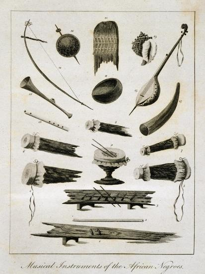 Musical Instruments of the African Negroes, 1773-John Gabriel Stedman-Giclee Print