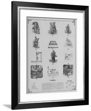 Musical Instruments - Pianos--Framed Giclee Print