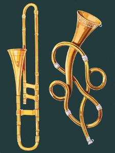 Musical Instruments: Trombone and Labyrinthine Trumpet