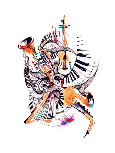 Musical Instruments-okalinichenko-Art Print