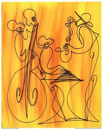 Musical Love-Sir Shadow-Art Print