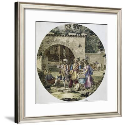 Musical Performed on Street, Rome, Italy--Framed Giclee Print