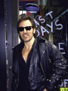 Musician Bruce Springsteen, Wearing Sunglasses
