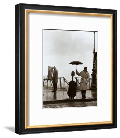 Musician in the Rain-Robert Doisneau-Framed Art Print
