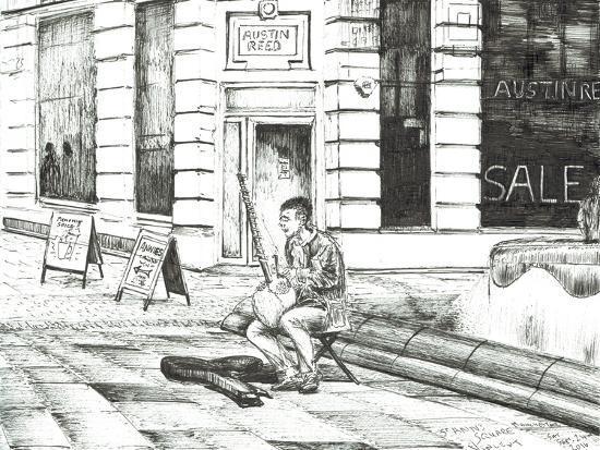 Musician St. Ann's Square, 2016-Vincent Alexander Booth-Premium Giclee Print