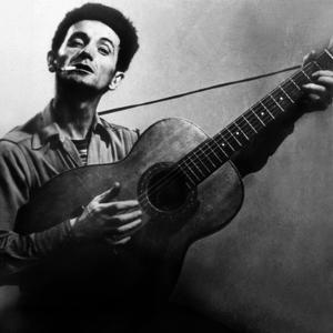 Musician Woody Guthrie (1912-1967) Considered as the Father of Folk Music C. 1940