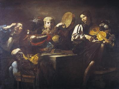 Musicians and Soldiers, Circa 1626-Valentin de Boulogne-Giclee Print