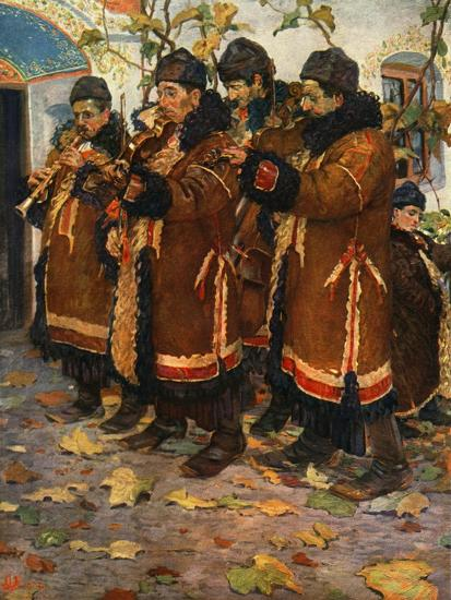 'Musicians from Hroznovà Lhota: clarinet, violin and double bass. (1861-1940)', 1948-Joza Uprka-Giclee Print