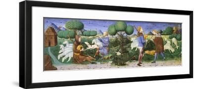 Musicians with Bagpipes and Cornamuse, Illustration for the Eclogues, Poem by Virgil--Framed Giclee Print