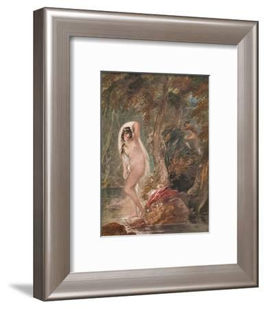 'Musidora', c1788 (1904)-William Hamilton-Framed Giclee Print