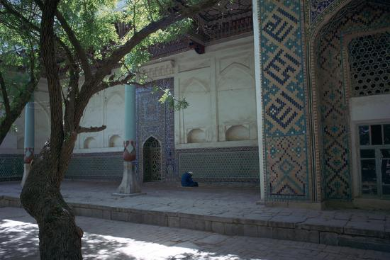 Muslim at prayer in a mosque in Samarkand-Unknown-Photographic Print