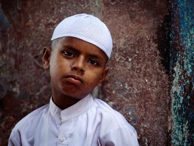 Muslim Boy in Chandni Chowk, Delhi, India-Daniel Boag-Photographic Print