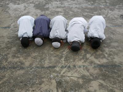 Muslim Boys Praying, Kathmandu, Nepal, Asia-Godong-Photographic Print