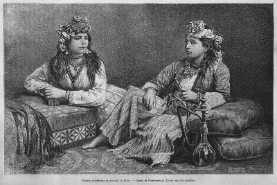 Muslim Women of Sidon, from 'La Syrie D'Aujourd'Hui. Voyages Dans La Phenicie, Le Liban Et La…--Giclee Print