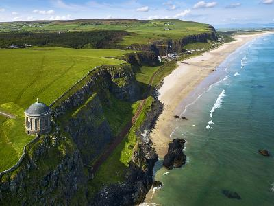 Mussenden Temple, a Folly on the North Irish Coast-Chris Hill-Photographic Print