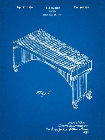 Musser Marimba Patent-Cole Borders-Art Print