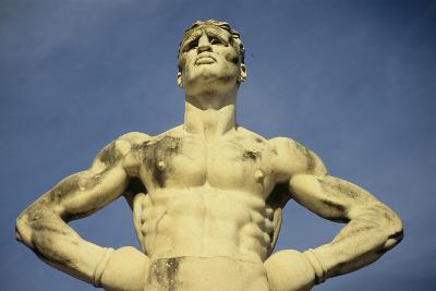 Mussolini Sports Stadium, Rome - Olympic Games 1933 - Statues - Fascist Architecture-Robert ODea-Photographic Print