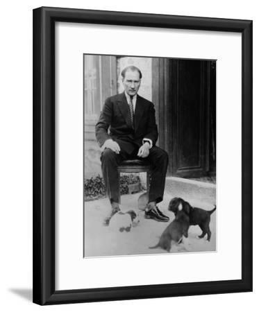 Mustafa Kemal Ataturk, President of Turkey, with His Pet Dogs, Ca. 1930