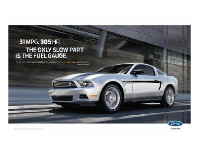 Mustang 2011 - 31Mpg - 305Hp--Art Print