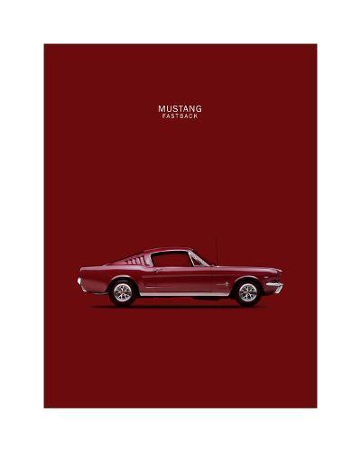 Mustang Fastback 65-Mark Rogan-Giclee Print