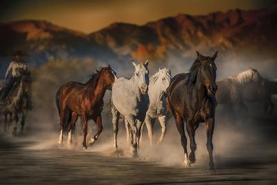 Mustangs on the Move-Bobbie Goodrich-Giclee Print