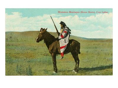 Mustatem Moutiapec on Horseback, Cree Indian--Art Print