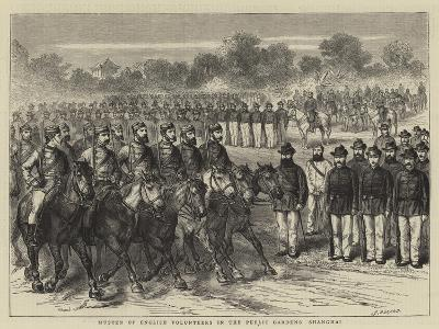 Muster of English Volunteers in the Public Gardens, Shanghai-Godefroy Durand-Giclee Print