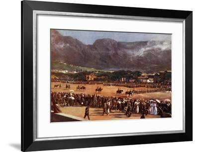 Muster of the Cape Town Guard on the Parade Ground--Framed Giclee Print