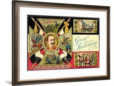 Musterung, Deutschland, Kaiser Wilhelm II, Marine--Framed Giclee Print