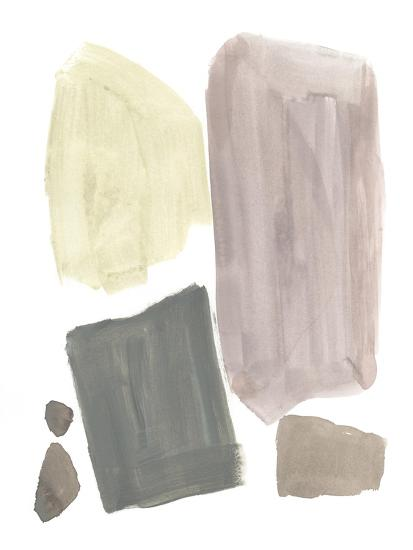 Muted Mod Shapes IV-Jennifer Goldberger-Art Print